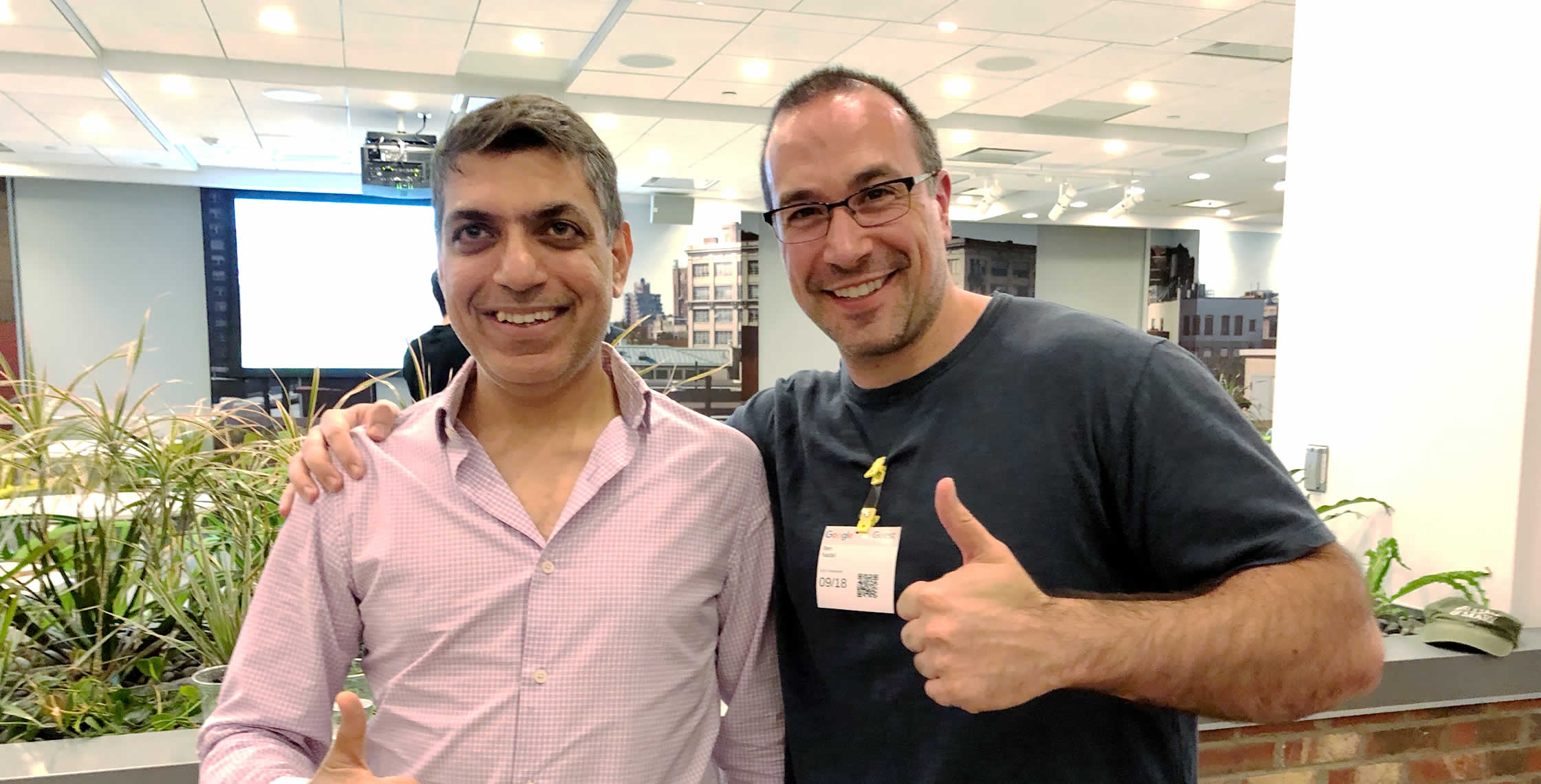 Ben Nadel at the Angular NYC Meetup (Sep. 2018) with: Akshay Nihalaney