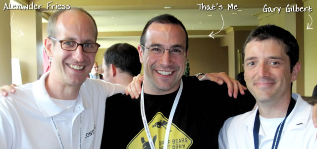 Ben Nadel at CFUNITED 2010 (Landsdown, VA) with: Alexander Friess and Gary Gilbert