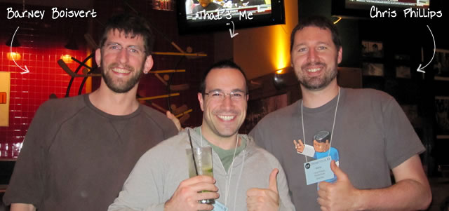 Ben Nadel at cf.Objective() 2011 (Minneapolis, MN) with: Barney Boisvert and Chris Phillips
