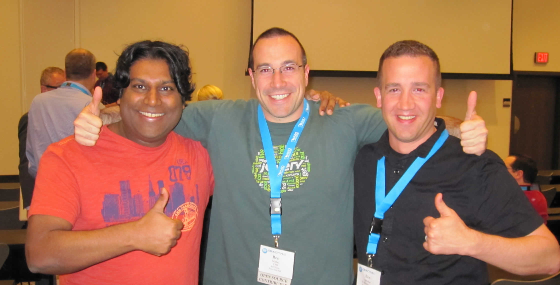 Ben Nadel at cf.Objective() 2013 (Bloomington, MN) with: Ben Koshy and Ben Arledge