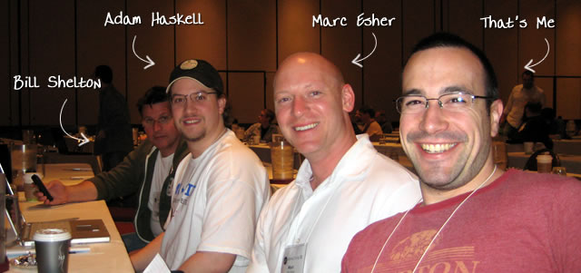 Ben Nadel at cf.Objective() 2009 (Minneapolis, MN) with: Bill Shelton and Adam Haskell and Marc Esher