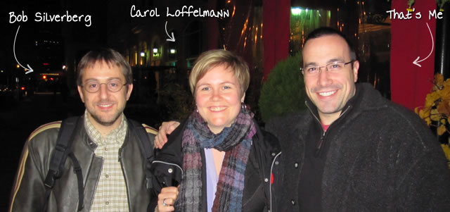 Ben Nadel at RIA Unleashed (Nov. 2010) with: Bob Silverberg and Carol Loffelmann