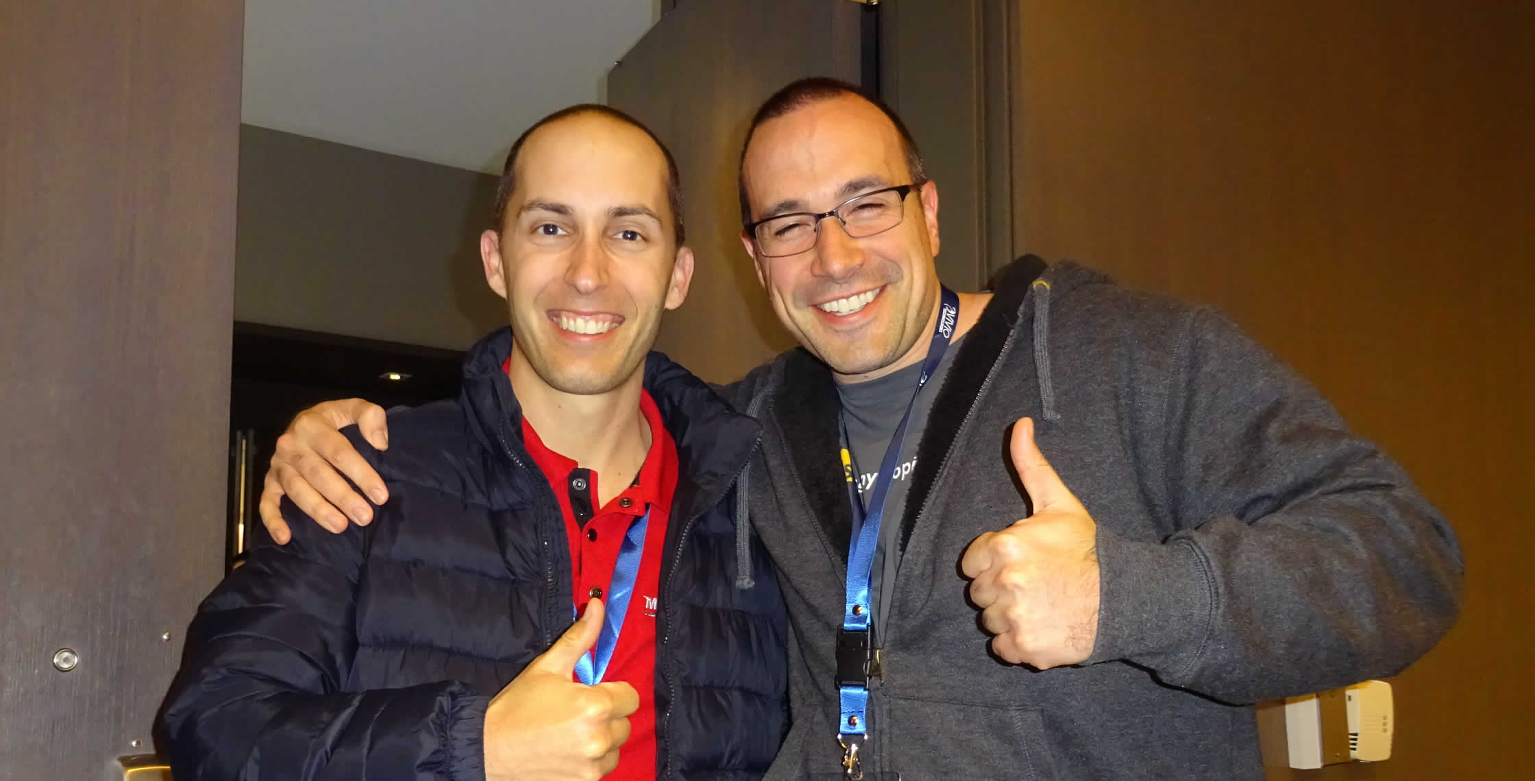 Ben Nadel at dev.Objective() 2015 (Bloomington, MN) with: Brian Ghidinelli