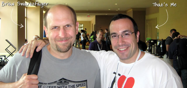 Ben Nadel at CFUNITED 2009 (Lansdowne, VA) with: Brian Swartzfager