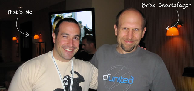 Ben Nadel at CFUNITED 2010 (Landsdown, VA) with: Brian Swartzfager