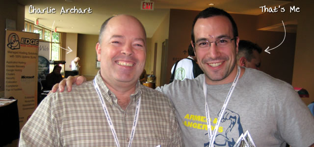 Ben Nadel at CFUNITED 2009 (Lansdowne, VA) with: Charlie Arehart