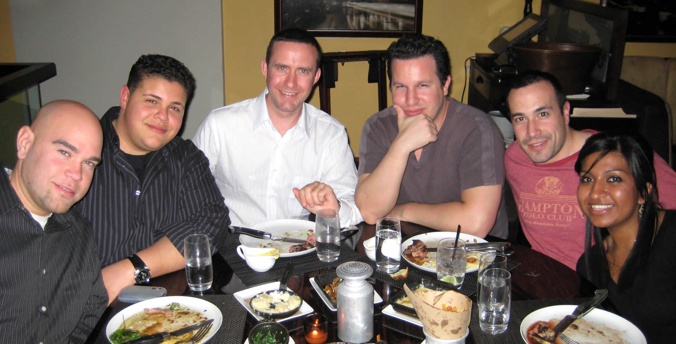 Ben Nadel at the New York ColdFusion User Group (Apr. 2008) with: Clark Valberg and Peter Bell and Rob Gonda and Nafisa Sabu