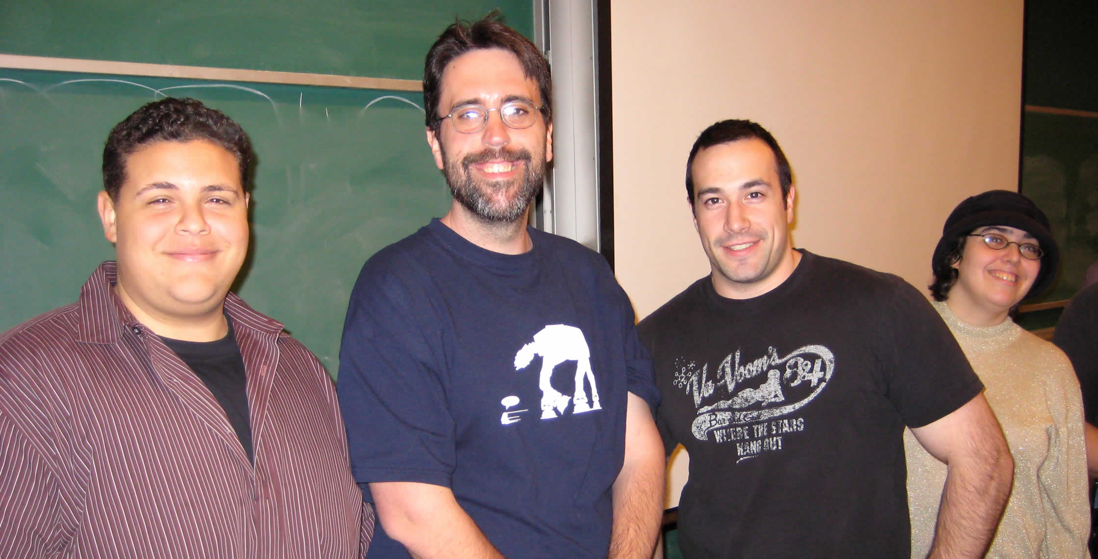 Ben Nadel at the New York ColdFusion User Group (Feb. 2008) with: Clark Valberg and Ray Camden and Judith Dinowitz