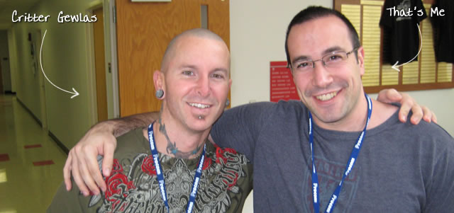 Ben Nadel at CFinNC 2009 (Raleigh, North Carolina) with: Critter Gewlas