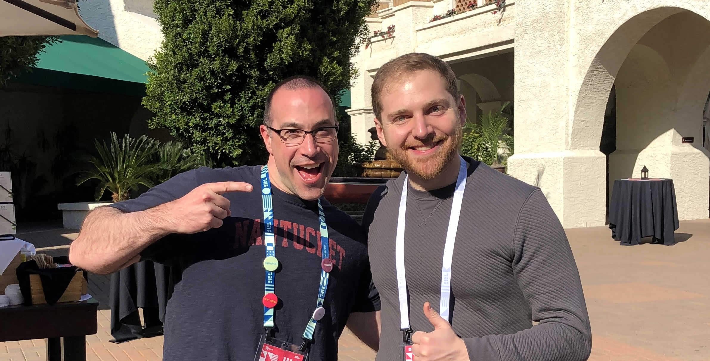 Ben Nadel at InVision In Real Life (IRL) 2019 (Phoenix, AZ) with: David Fraga
