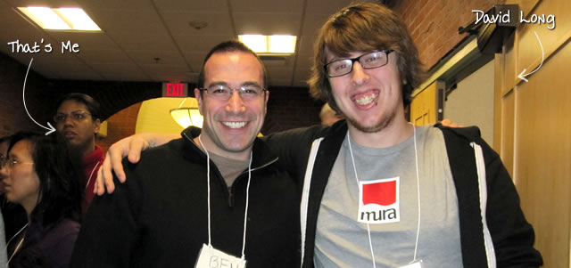 Ben Nadel at RIA Unleashed (Nov. 2010) with: David Long