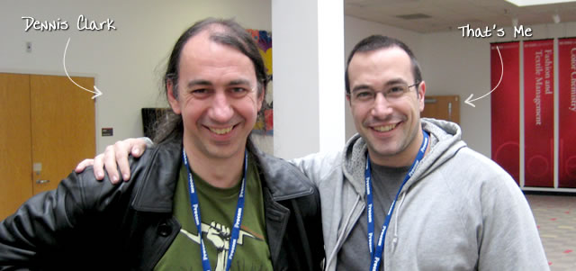 Ben Nadel at CFinNC 2009 (Raleigh, North Carolina) with: Dennis Clark