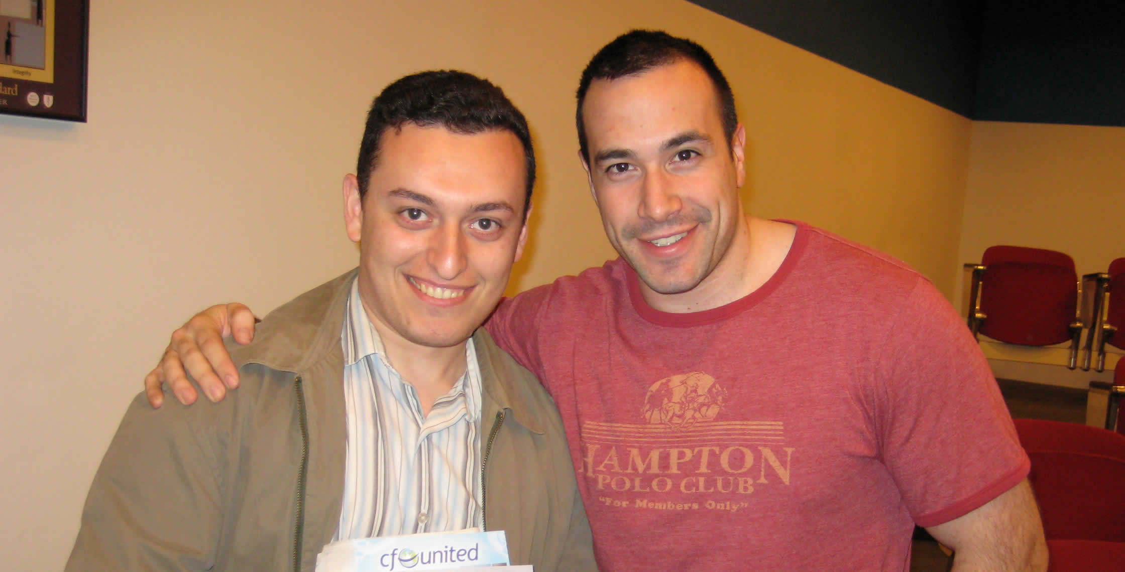 Ben Nadel at the New York ColdFusion User Group (Apr. 2008) with: Dmitriy Goltseker