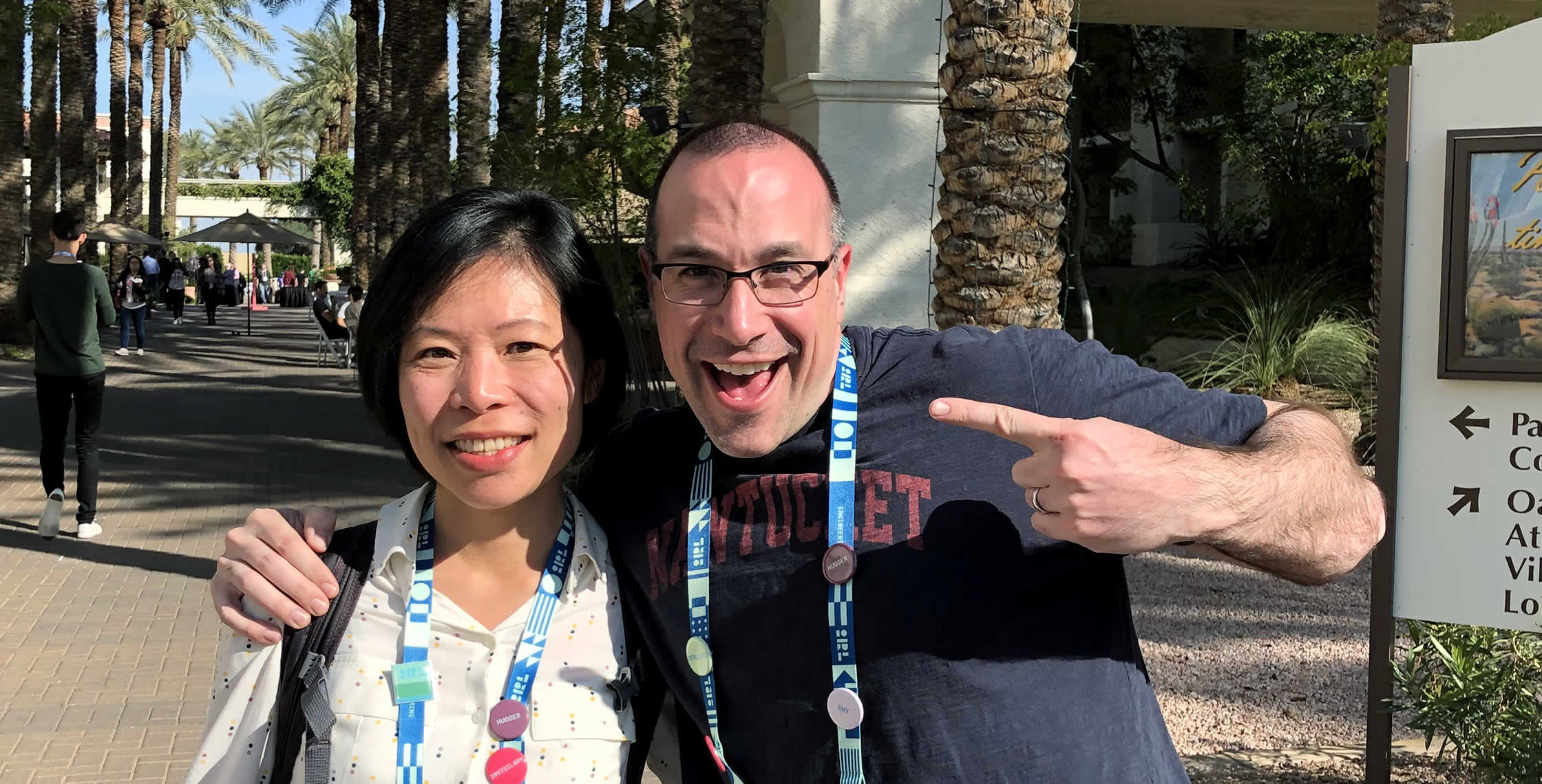Ben Nadel at InVision In Real Life (IRL) 2019 (Phoenix, AZ) with: Edith Au
