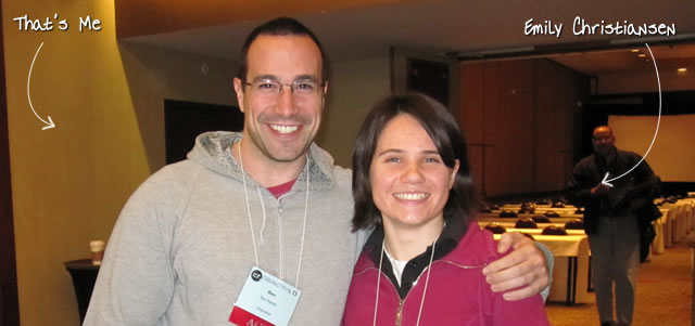 Ben Nadel at cf.Objective() 2011 (Minneapolis, MN) with: Emily Christiansen
