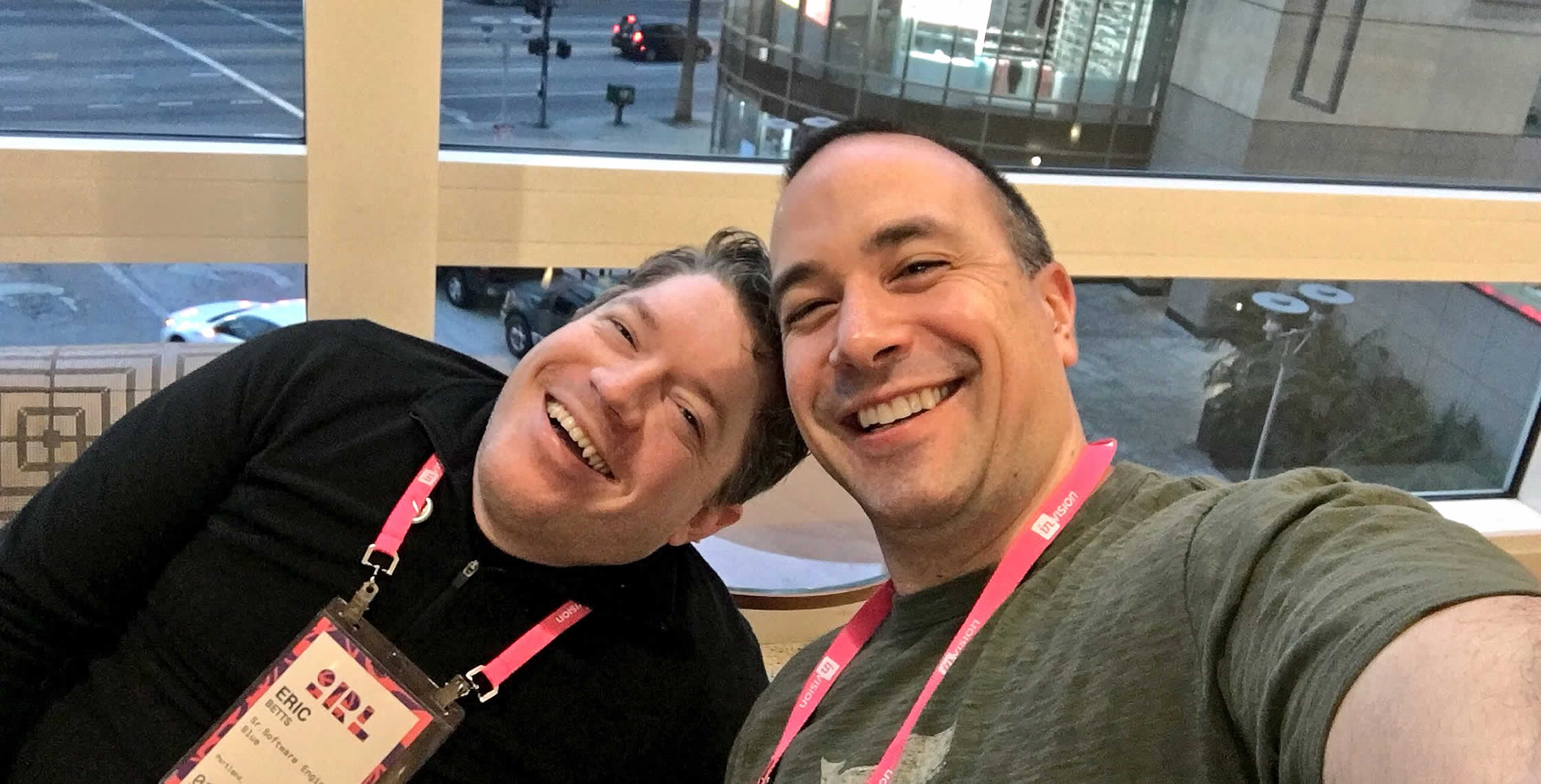 Ben Nadel at InVision In Real Life (IRL) 2018 (Hollywood, CA) with: Eric Betts