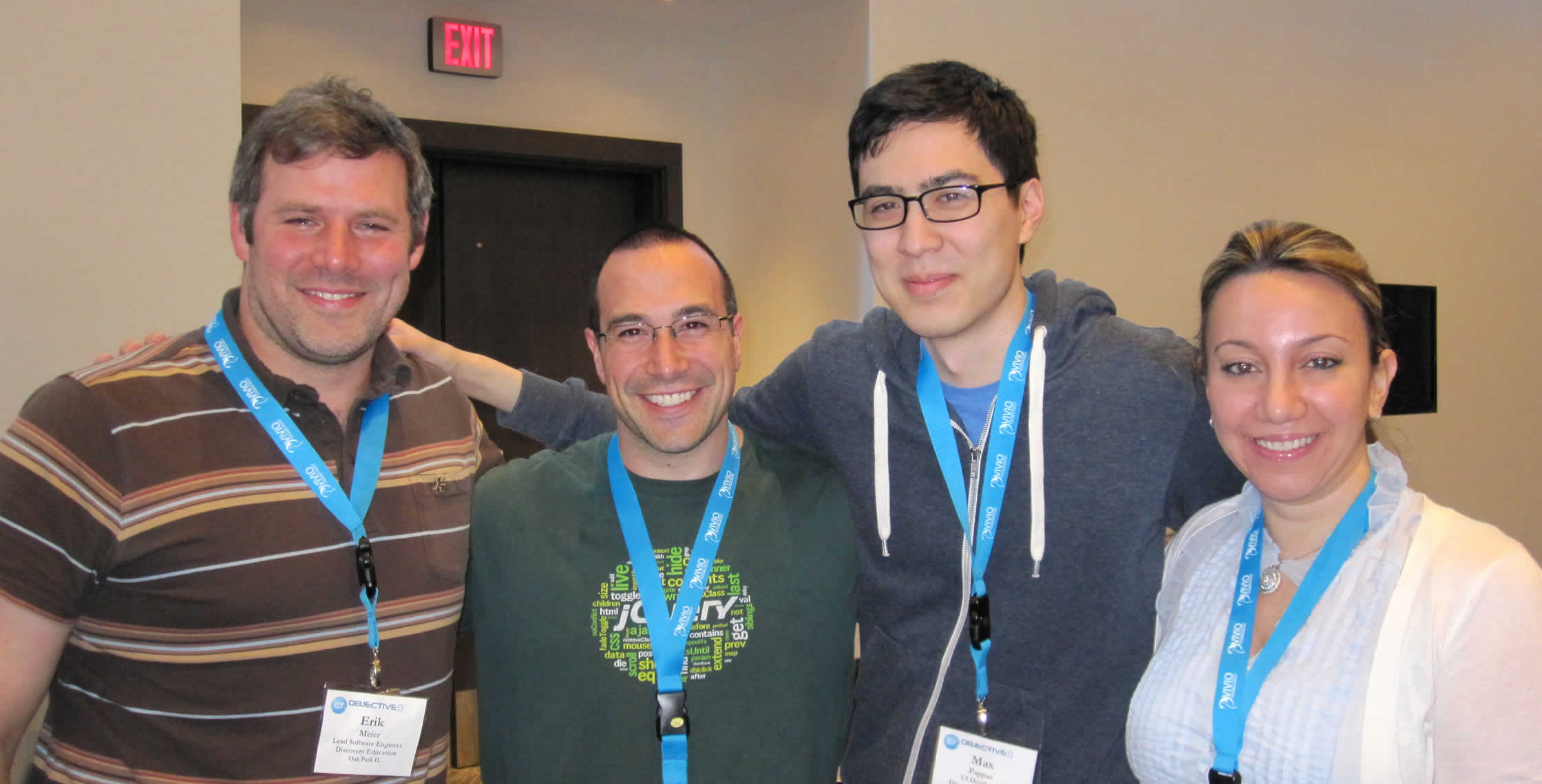 Ben Nadel at cf.Objective() 2013 (Bloomington, MN) with: Erik Meier and Max Pappas and Reem Jaghlit