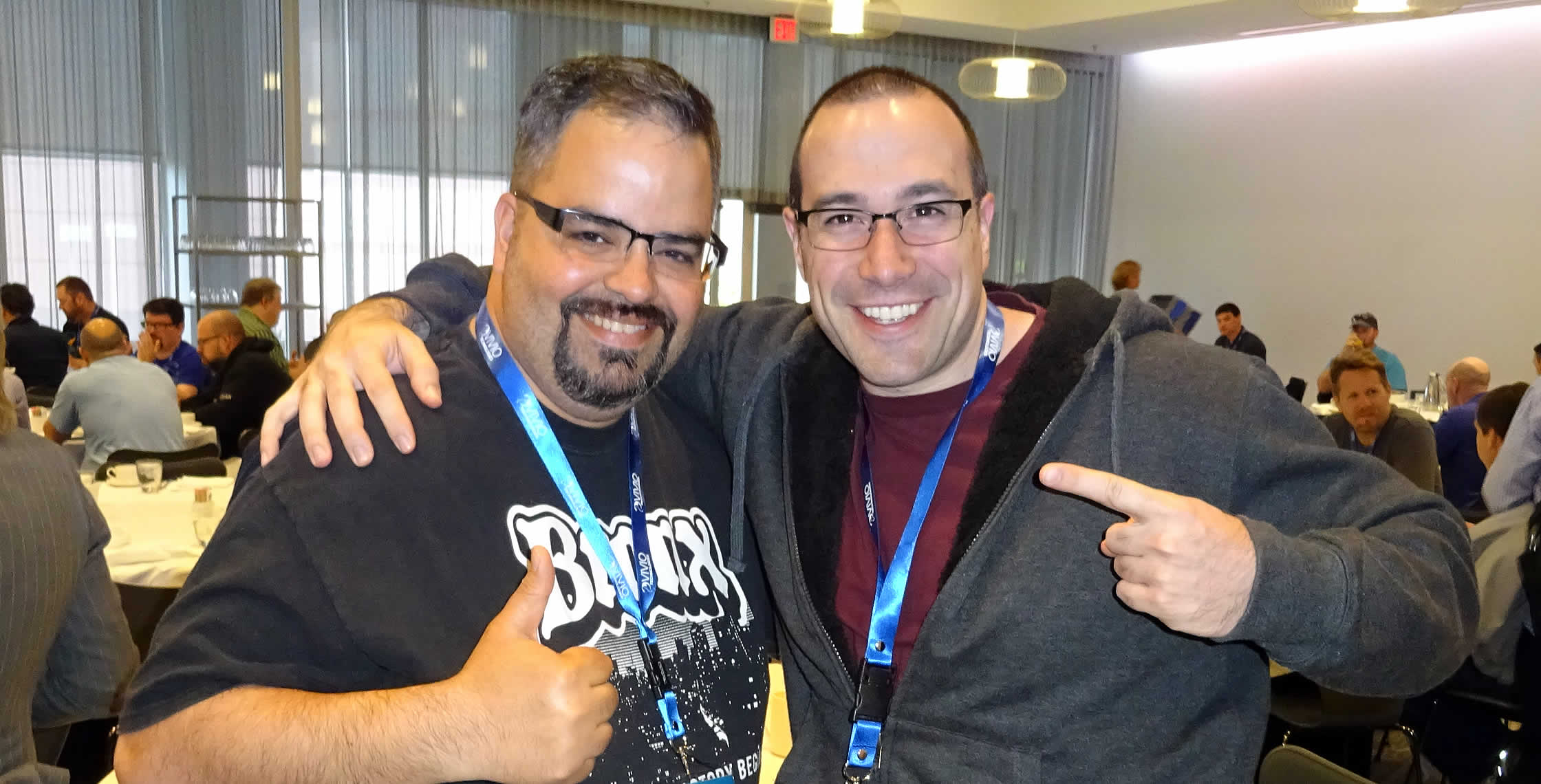 Ben Nadel at dev.Objective() 2015 (Bloomington, MN) with: Gabriel Perez