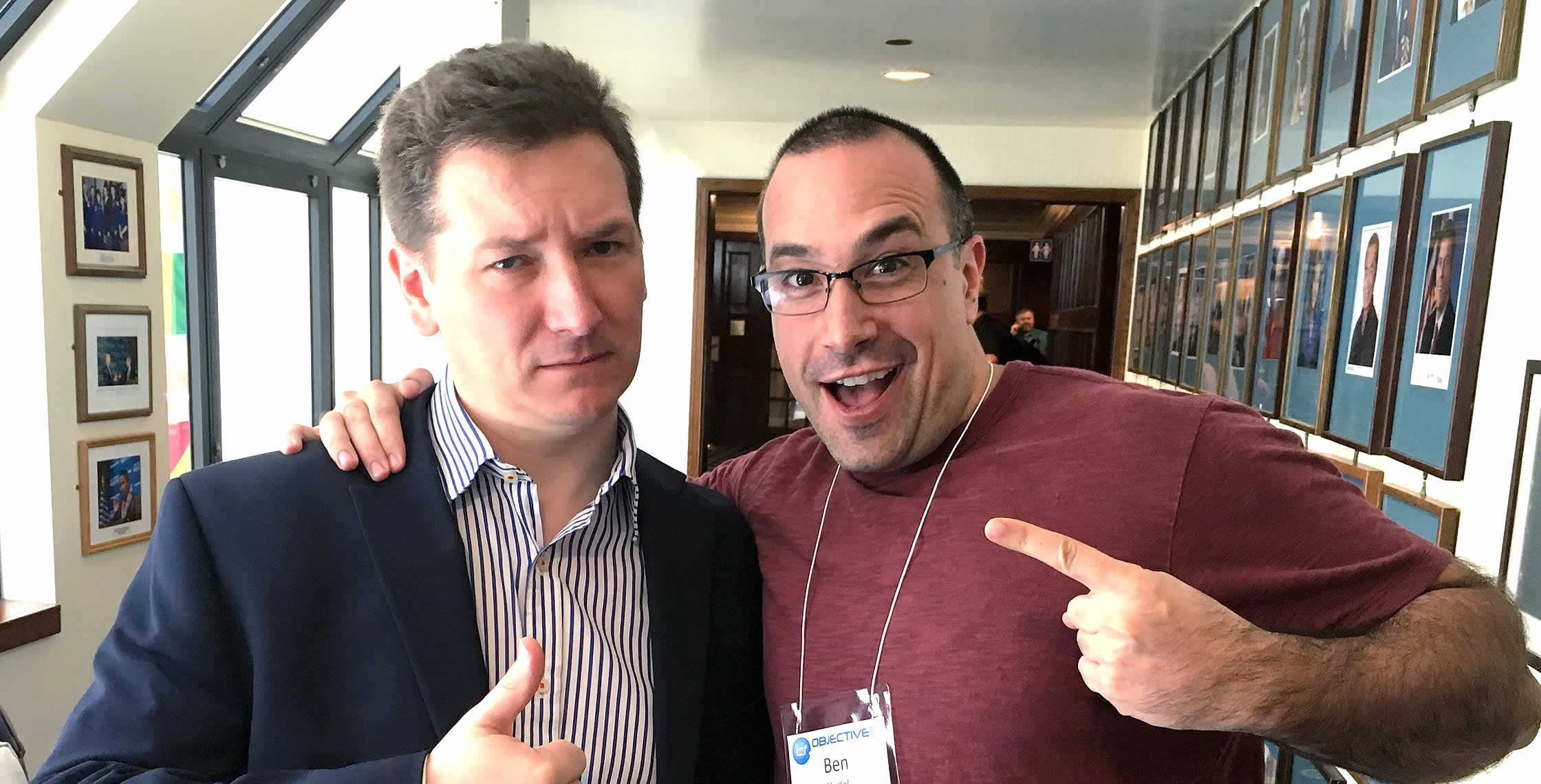 Ben Nadel at cf.Objective() 2017 (Washington, D.C.) with: Geoff Bowers