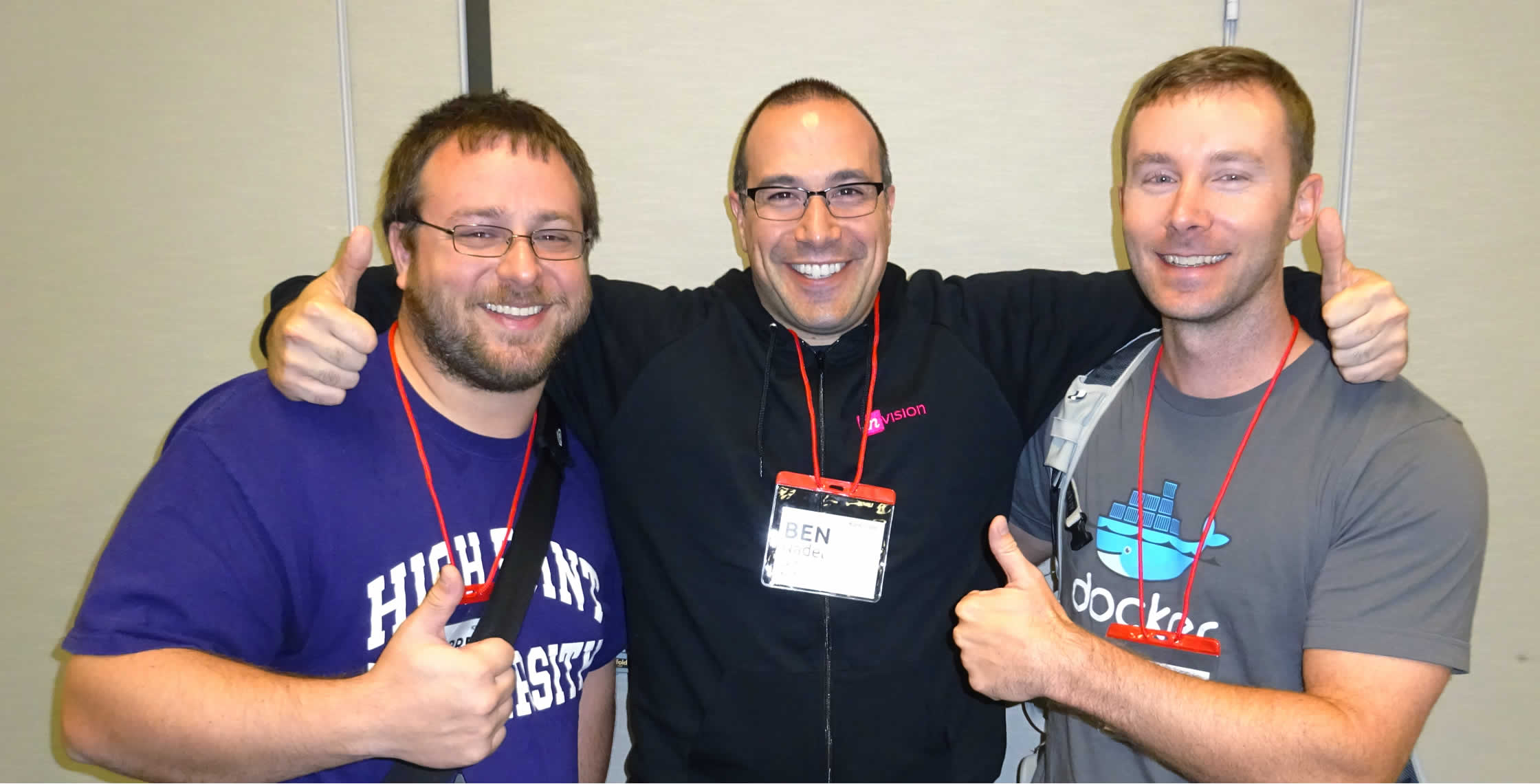 Ben Nadel at NCDevCon 2016 (Raleigh, NC) with: George Garrett Neisler and Chris Bestall
