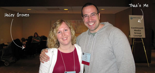 Ben Nadel at cf.Objective() 2011 (Minneapolis, MN) with: Haley Groves