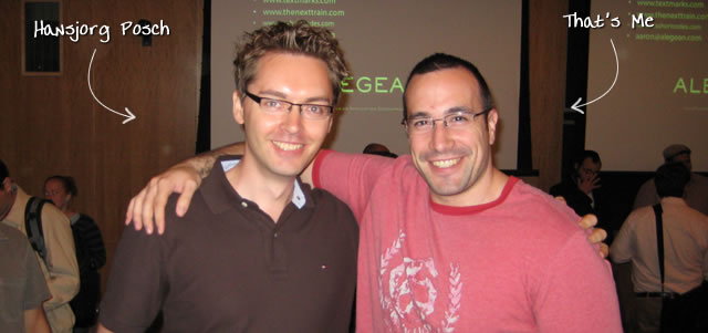 Ben Nadel at the New York ColdFusion User Group (Sep. 2009) with: Hansjorg Posch
