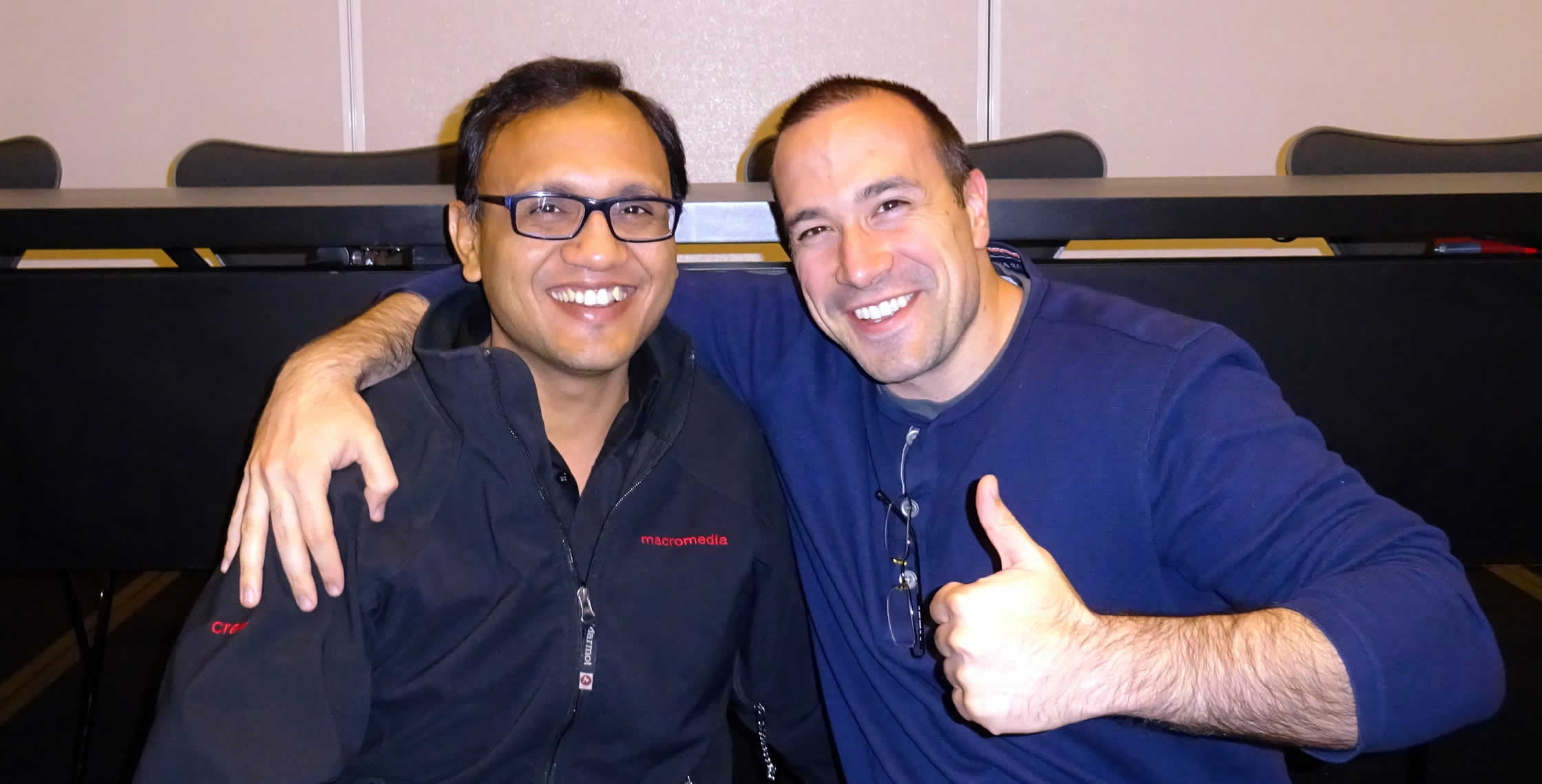 Ben Nadel at cf.Objective() 2014 (Bloomington, MN) with: Hemant Khandelwal