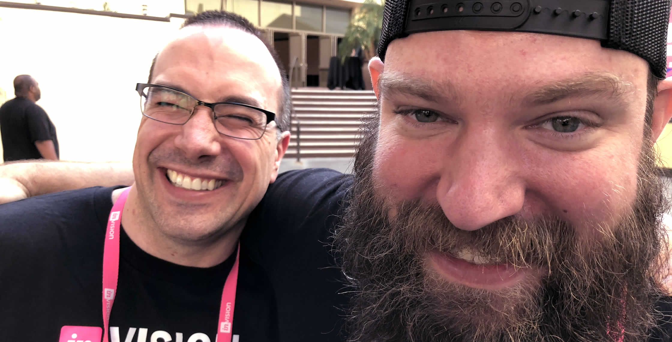Ben Nadel at InVision In Real Life (IRL) 2018 (Hollywood, CA) with: Jesse Dearing