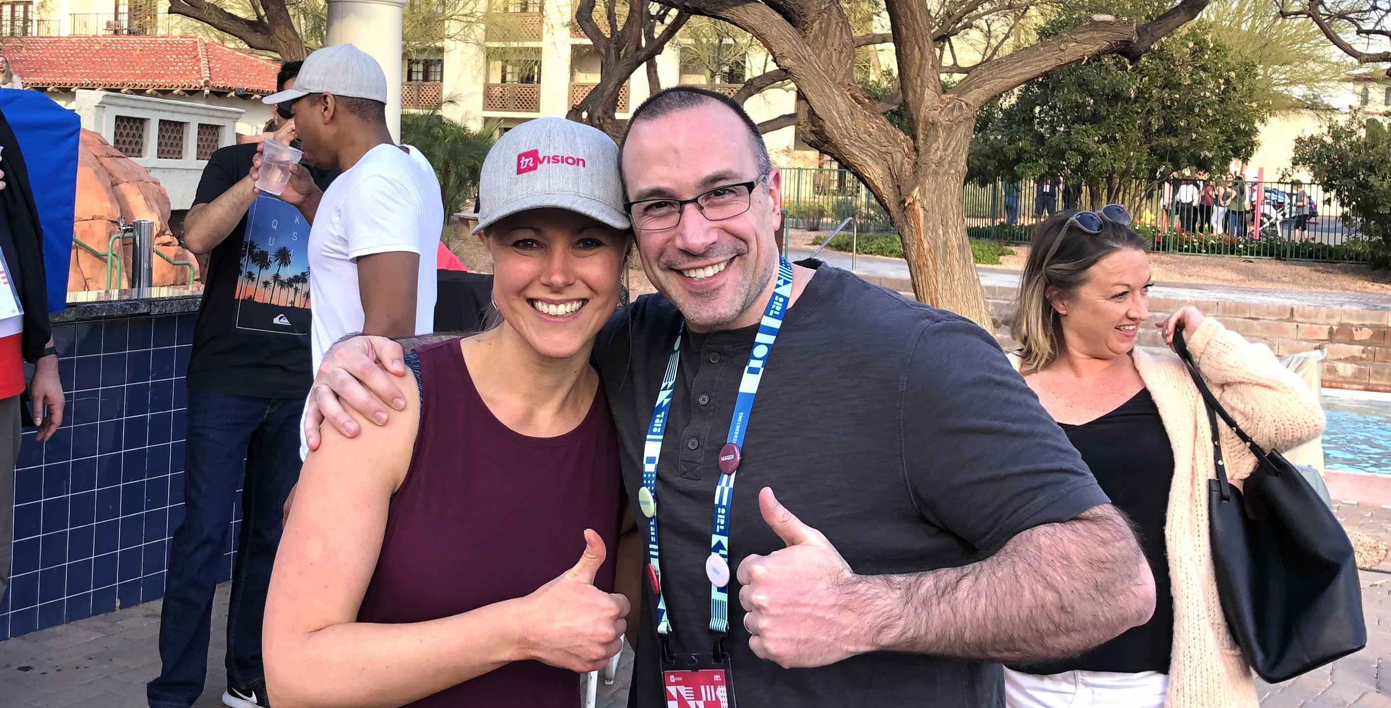 Ben Nadel at InVision In Real Life (IRL) 2019 (Phoenix, AZ) with: Jessica Eisner