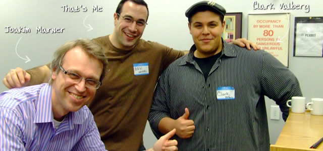 Ben Nadel at the New York ColdFusion User Group (Feb. 2009) with: Joakim Marner and Clark Valberg