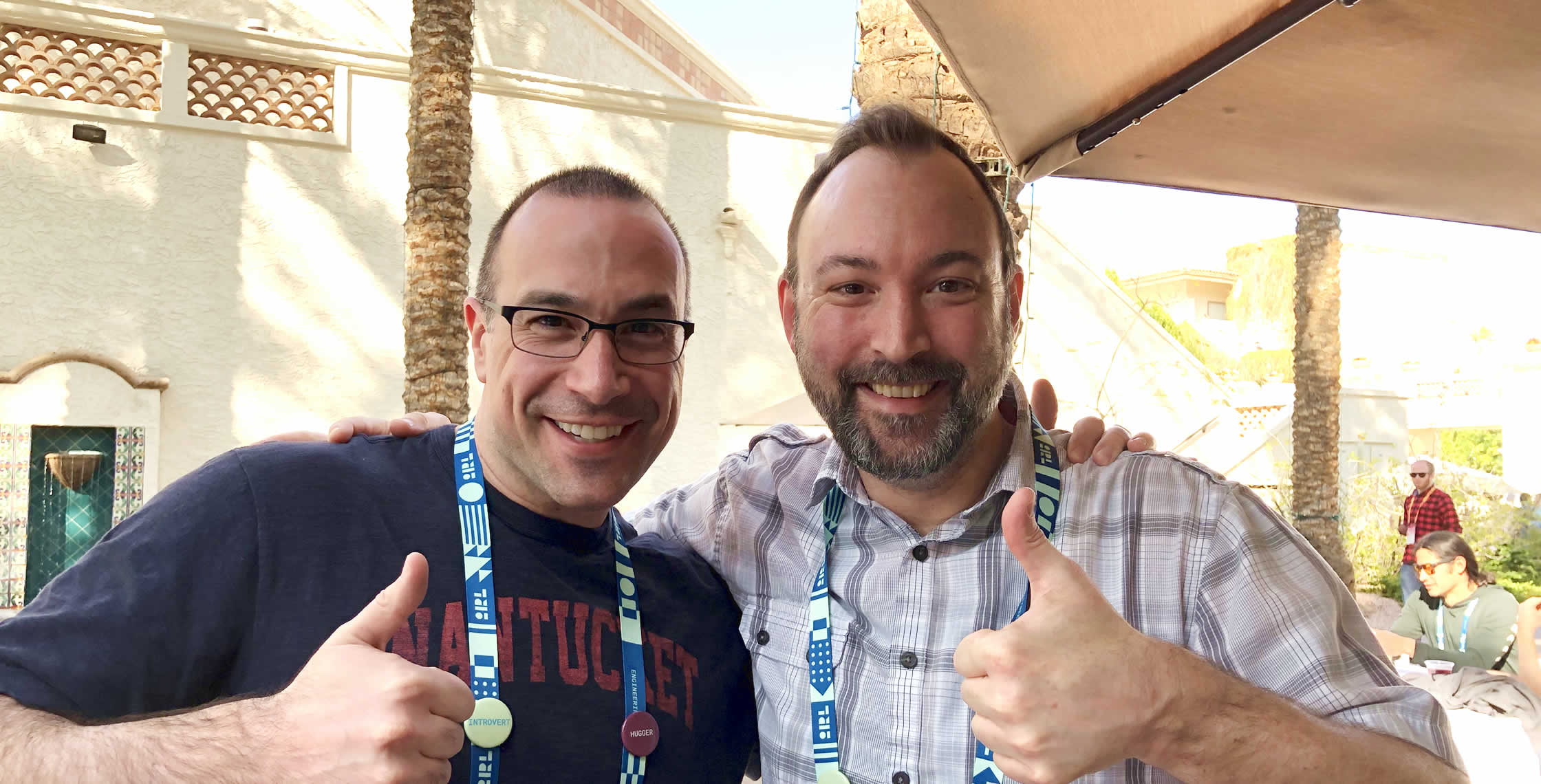 Ben Nadel at InVision In Real Life (IRL) 2019 (Phoenix, AZ) with: Joe Gores