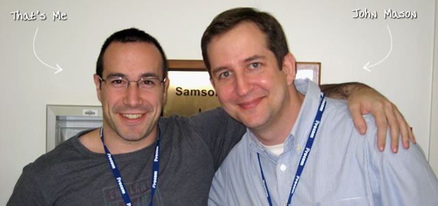 Ben Nadel at CFinNC 2009 (Raleigh, North Carolina) with: John Mason