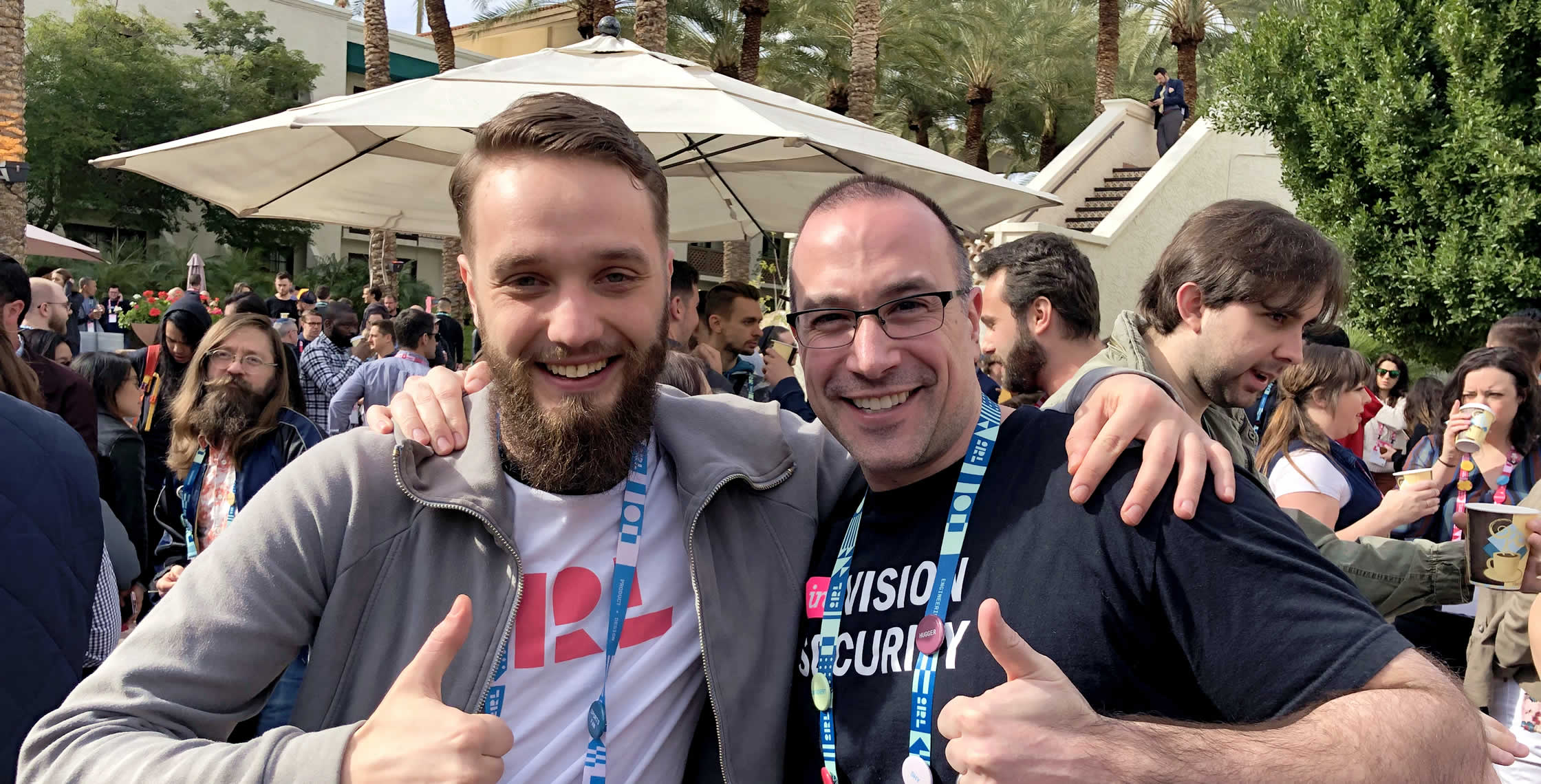 Ben Nadel at InVision In Real Life (IRL) 2019 (Phoenix, AZ) with: Jonas Bučinskas