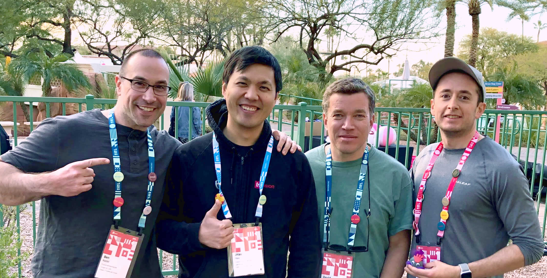Ben Nadel at InVision In Real Life (IRL) 2019 (Phoenix, AZ) with: Jonathan Hau and David Bainbridge and Scott Markovits