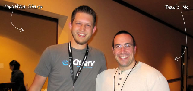 Ben Nadel at the jQuery Conference 2010 (Boston, MA) with: Jonathan Sharp