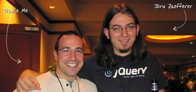 Ben Nadel at the jQuery Conference 2010 (Boston, MA) with: Jörn Zaefferer