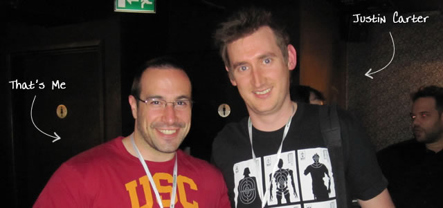 Ben Nadel at Scotch On The Rock (SOTR) 2010 (London) with: Justin Carter