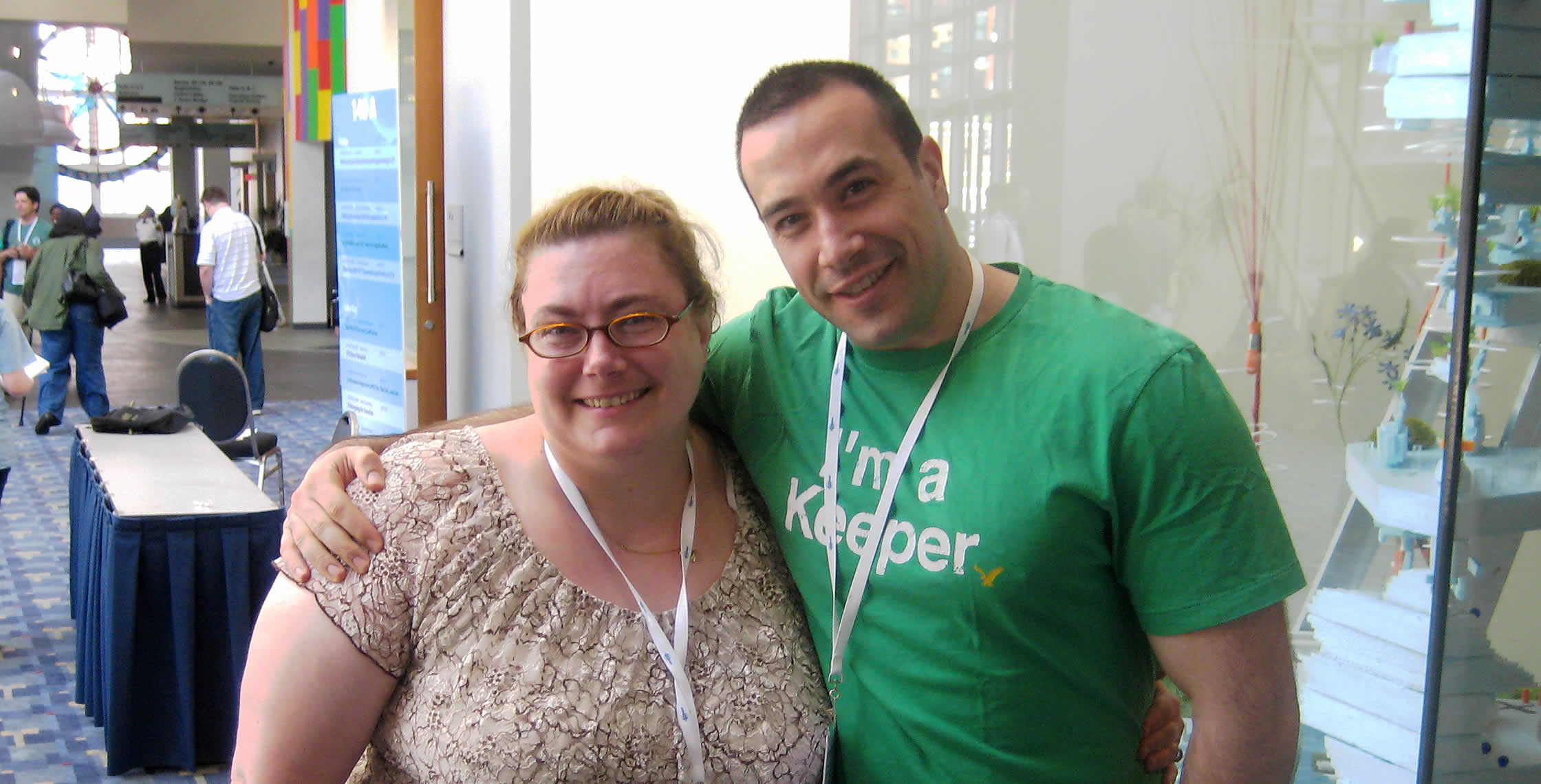 Ben Nadel at CFUNITED 2008 (Washington, D.C.) with: Karen Leary