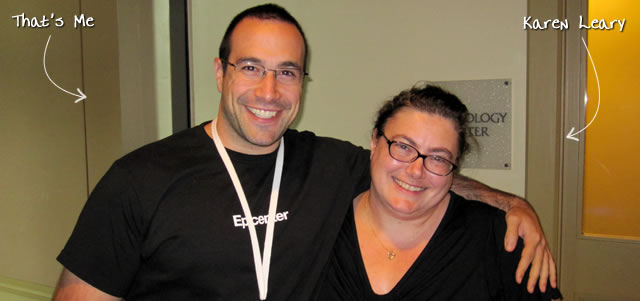 Ben Nadel at CFUNITED 2010 (Landsdown, VA) with: Karen Leary