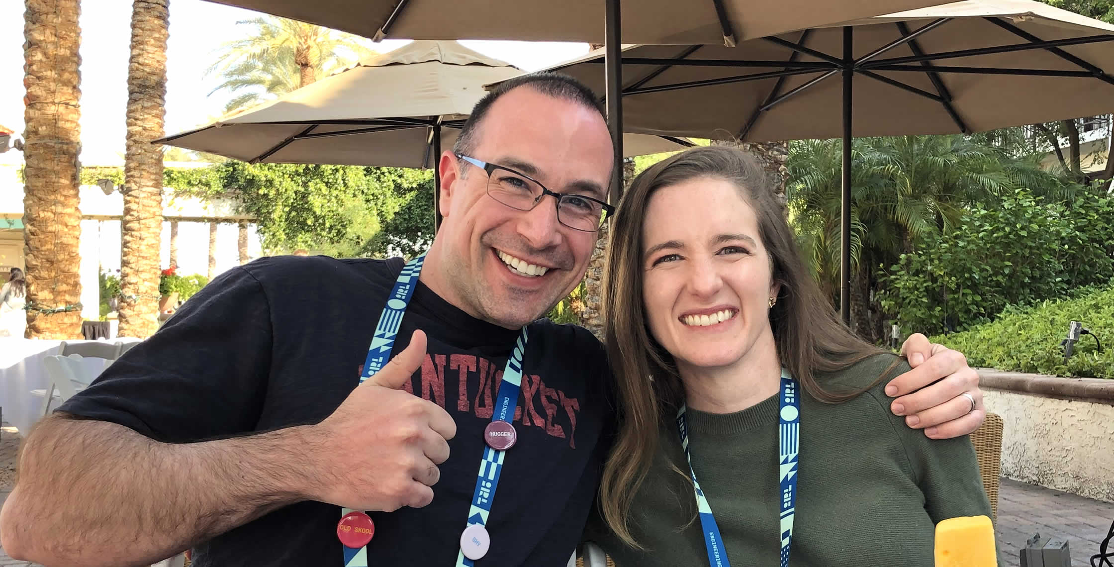 Ben Nadel at InVision In Real Life (IRL) 2019 (Phoenix, AZ) with: Keeley Hammond