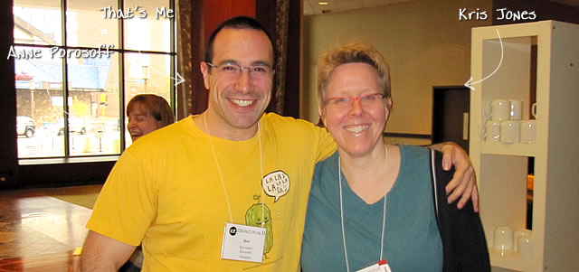 Ben Nadel at cf.Objective() 2010 (Minneapolis, MN) with: Kris Jones and Anne Porosoff