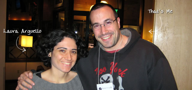 Ben Nadel at cf.Objective() 2009 (Minneapolis, MN) with: Laura Arguello