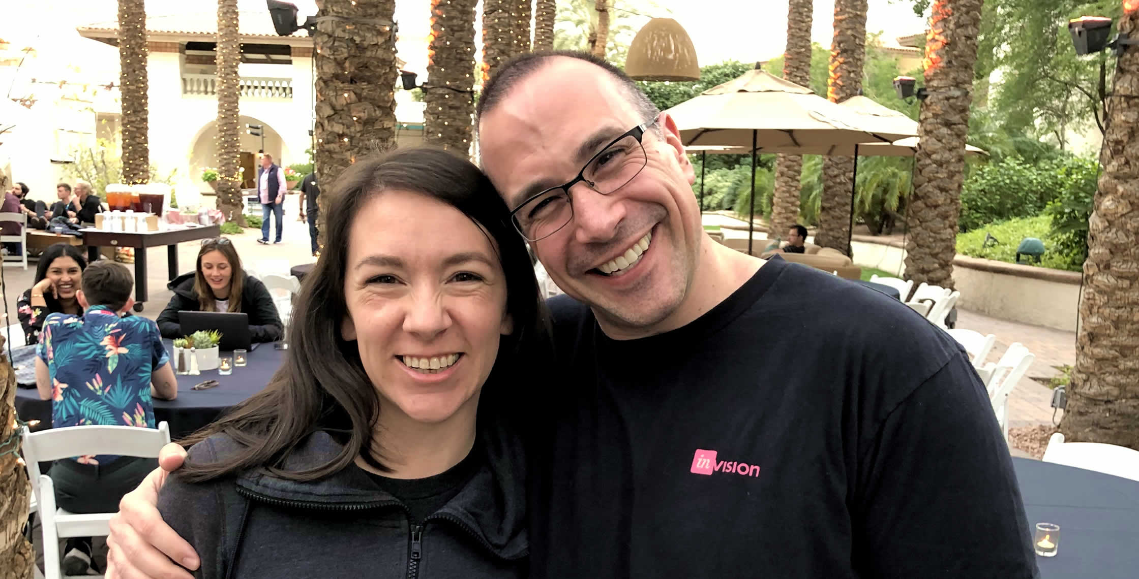 Ben Nadel at InVision In Real Life (IRL) 2019 (Phoenix, AZ) with: Liz Ojukwu
