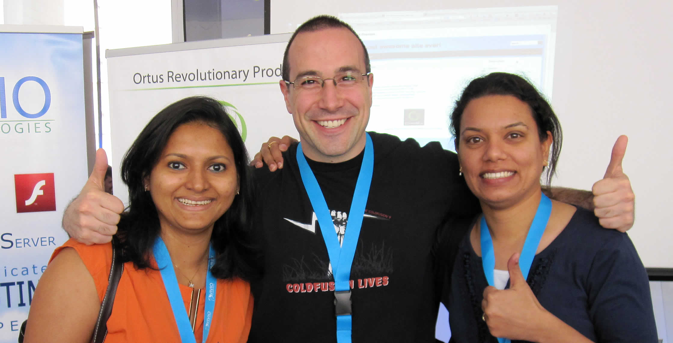 Ben Nadel at cf.Objective() 2013 (Bloomington, MN) with: Loveena Dsouza and Ritika Chowdhary