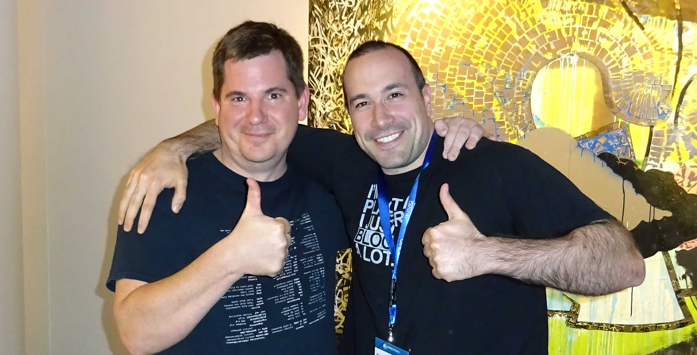 Ben Nadel at dev.Objective() 2015 (Bloomington, MN) with: Matt Osbun