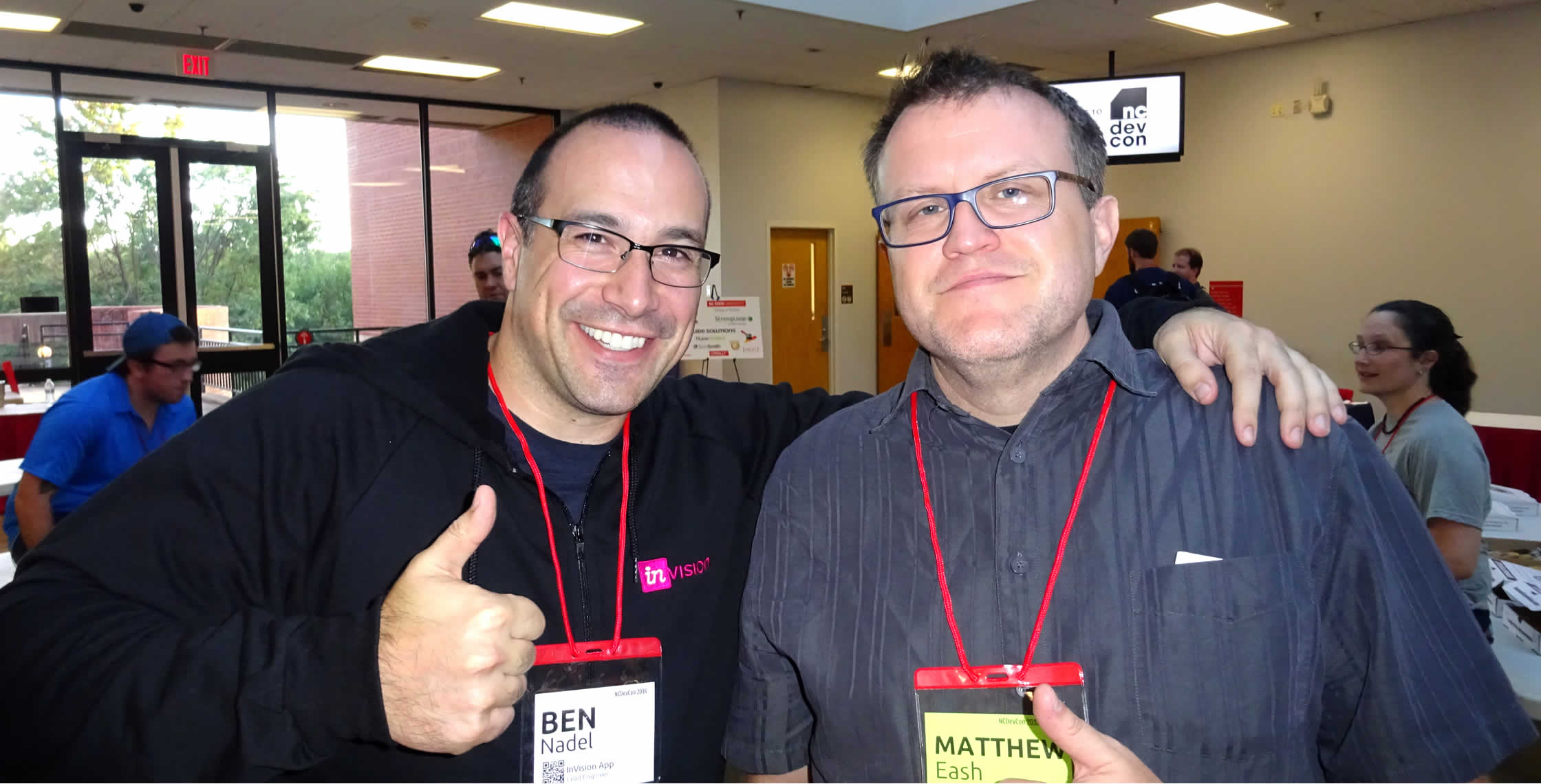 Ben Nadel at NCDevCon 2016 (Raleigh, NC) with: Matthew Eash