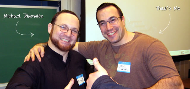 Ben Nadel at the New York ColdFusion User Group (Feb. 2009) with: Michael Dinowitz
