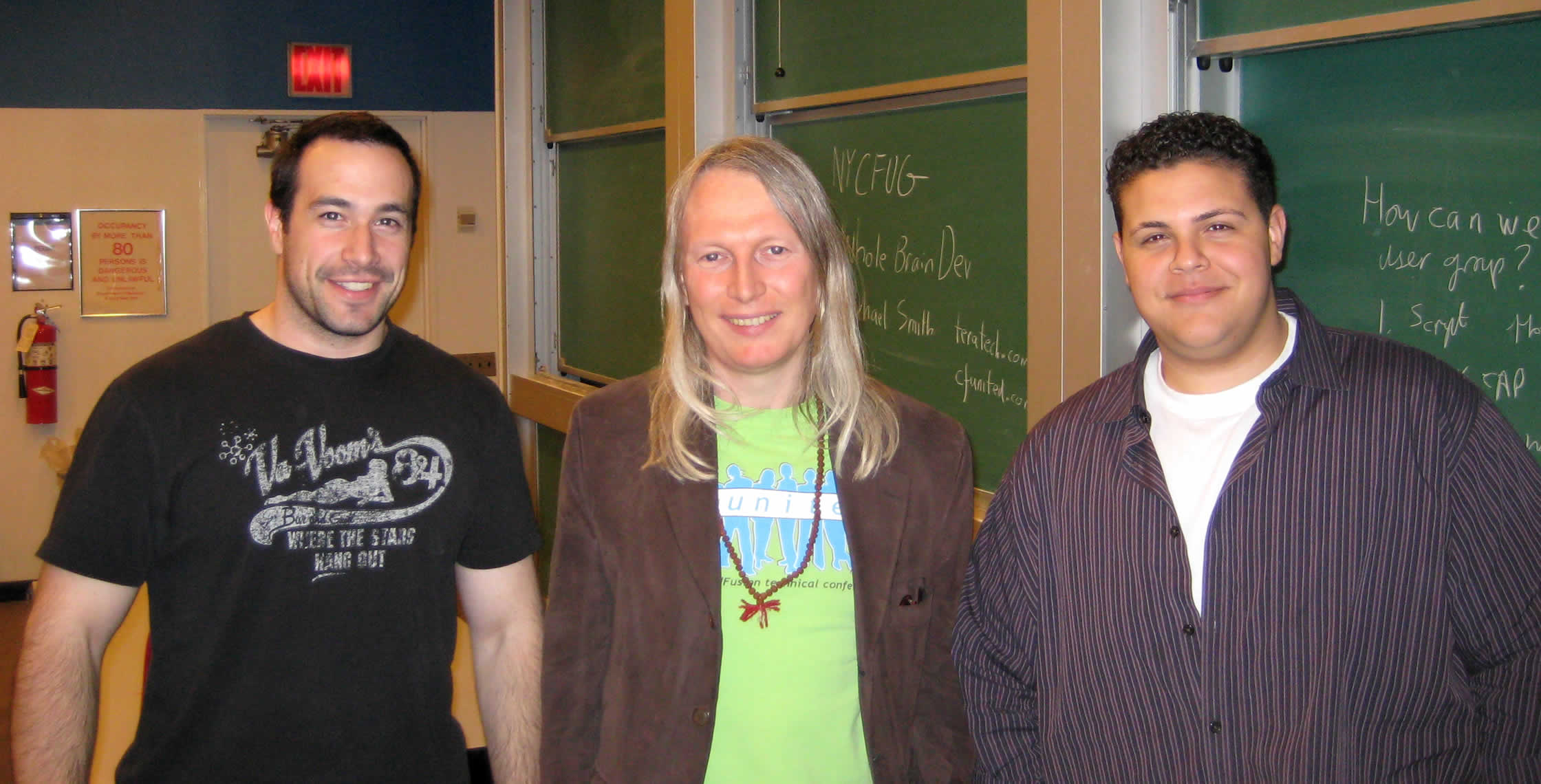 Ben Nadel at the New York ColdFusion User Group (May. 2008) with: Michael Smith and Clark Valberg