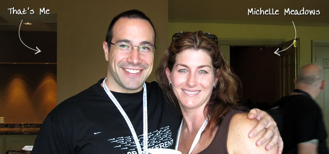 Ben Nadel at CFUNITED 2010 (Landsdown, VA) with: Michelle Meadows