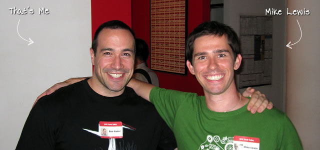 Ben Nadel at the NYC Tech Talk Meetup (Aug. 2010) with: Mike Lewis